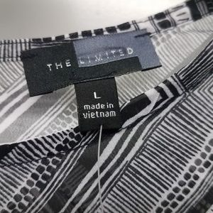 The Limited Tops - Black and White shirt